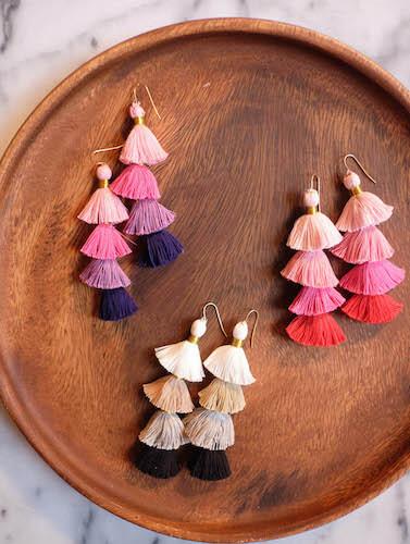 DIY Tassel Earrings by The Stripe