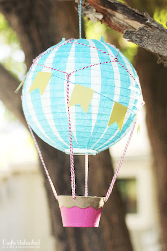DIY Vintage Hot Air Balloon by Crafts Unleashed