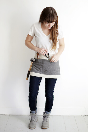 DIY Waxed Canvas Tool Apron by The Merry Thought