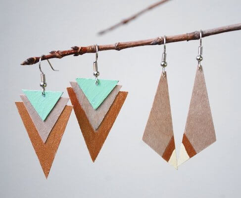DIY Wood Earrings by The Merry Thought