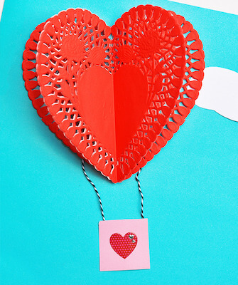 Doily Hot Air Balloon Craft by I Heart Arts N Crafts