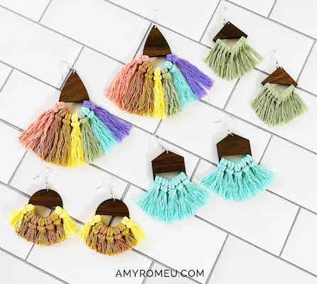 Easy DIY Macrame Earrings by Amy Romeu
