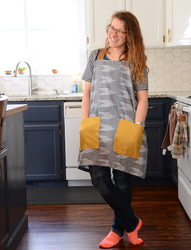 Farmhouse Linen Pinafore Apron Pattern by Sisters, What!