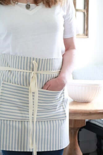 Farmhouse Style Pocket Apron Sewing Pattern by A Box Of Twine