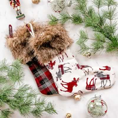 Faux Fur Cuff Christmas Stocking Pattern by Coral And Co