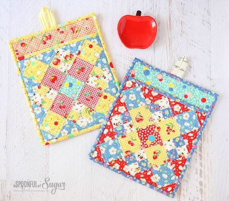 Fiesta Potholder Sewing Pattern by A Spoonful Of Sugar