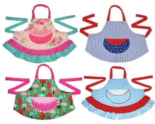 Girls Apron Sewing Pattern by My Childhood Treasures