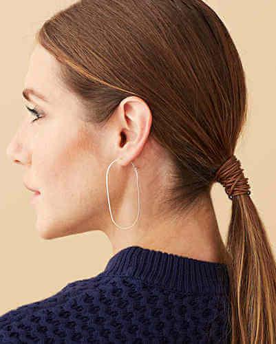 Gold Wire Hoop Earrings by Martha Stewart