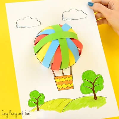 Hot Air Balloon Paper Craft by Easy Peasy And Fun