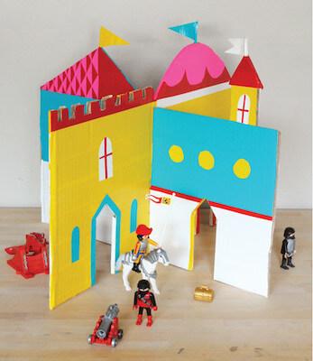 Interlocking Cardboard Castle by Mer Mag