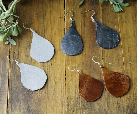 Lightweight Leather Earrings by Rebooted Mom