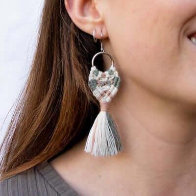 Macrame Fringe Earrings by Knot Calm
