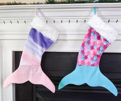 Mermaid Stocking Sewing Pattern by Jennie Masterson