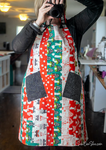 Mile-A-Minute Apron Sewing Pattern by Sew Can She