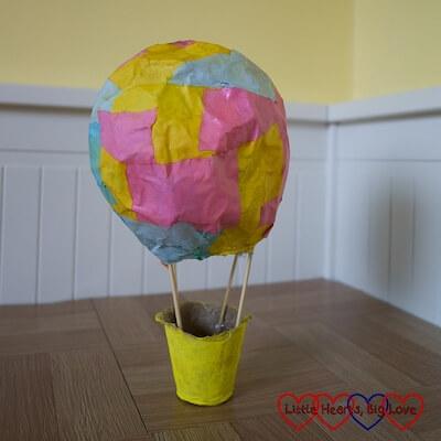 Papier Mache Hot Air Balloon by Little Hearts, Big Love