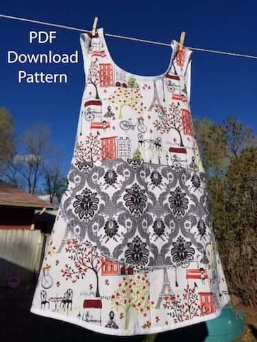 Plus Size Cross Back Apron Sewing Pattern by Van Zandt Studios