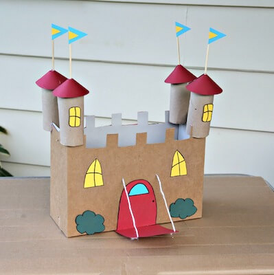 Recycled Cardboard Castle Craft by Kix Cereal