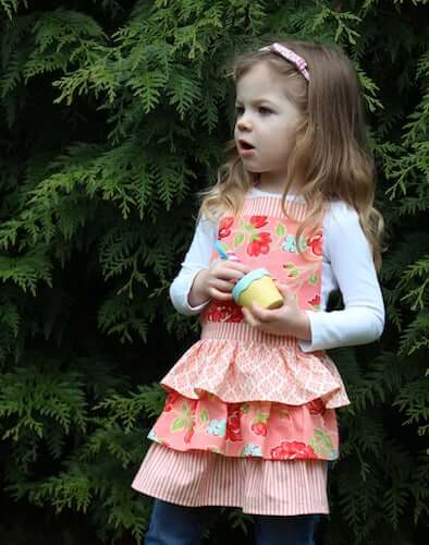 Ruffle Apron Sewing Pattern by The Freckled Pear