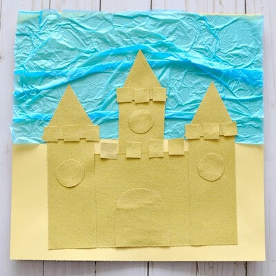 Sand Paper Sand Castle Craft by I Heart Crafty Things