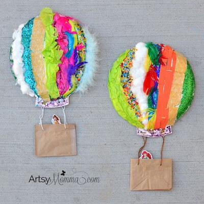 Textured Hot Air Balloon Sensory Craft by Artsy Momma