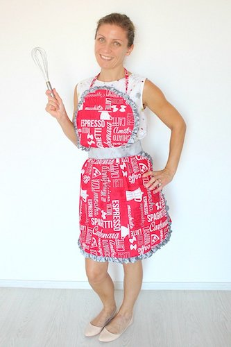 Vintage Apron Sewing Pattern by The Seaman Mom