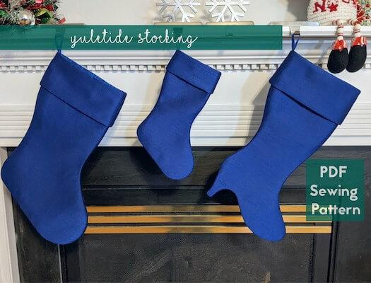 Yuletide Christmas Stocking Sewing Pattern by Toriska PDF
