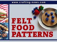 FELT FOOD PATTERNS