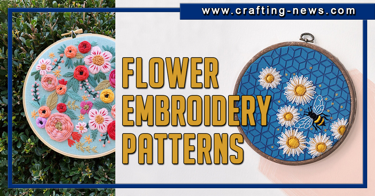 31 FLOWER EMBROIDERY PATTERNS