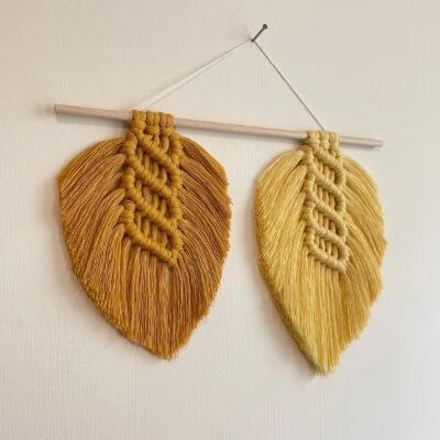 Beginner Macrame Feather Tutorial by WiresAndKnotsDesign