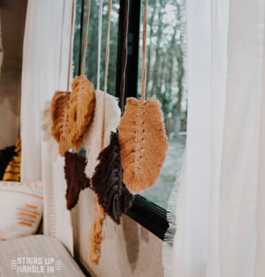 DIY Fall Leaf Macrame Pattern by Stairs Up Handle In