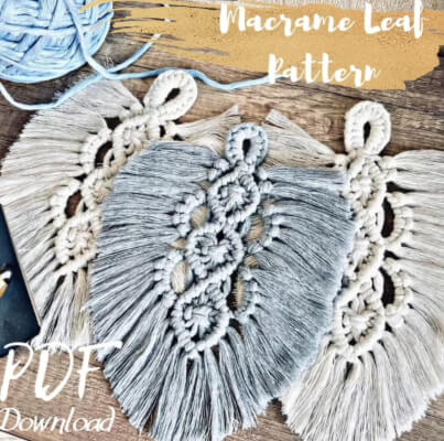 DIY Macrame Feather Pattern by Macramesis
