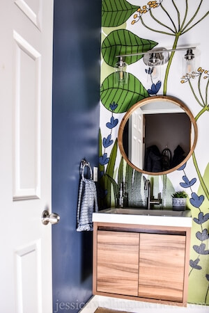 DIY Botanical Mural by Jessica Welling Interiors
