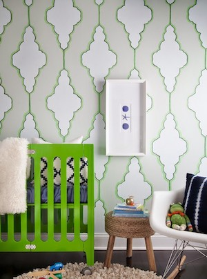 DIY Stenciled Wall by The Makerista