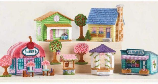 Herrschners Springtime Village Plastic Canvas Kit