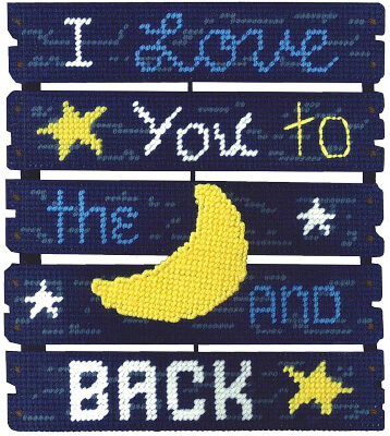 Love You To The Moon Pallet-ables Janlynn Plastic Canvas Kit