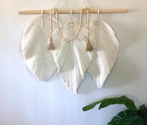 Macrame Leaf Wall Hanging Pattern by MacrameByKaretskaya