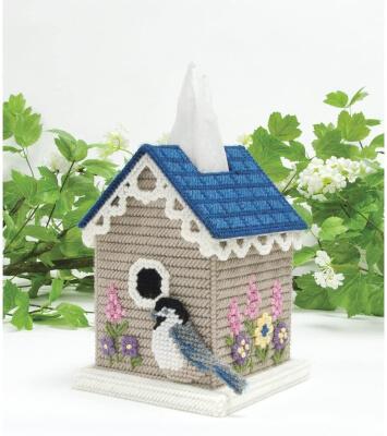 Mary Maxim Birdhouse Plastic Canvas Tissue Box Kit