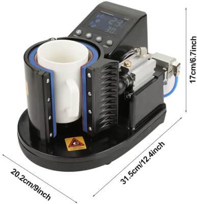 Mug Press Machine, US Plug 110V Pneumatic Heat Press Machine