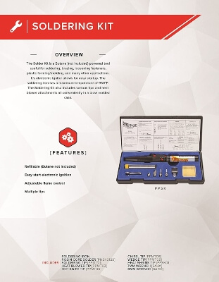 POWER PROBE Butane Soldering Kit gives you greater portability and flexibility than corded machines