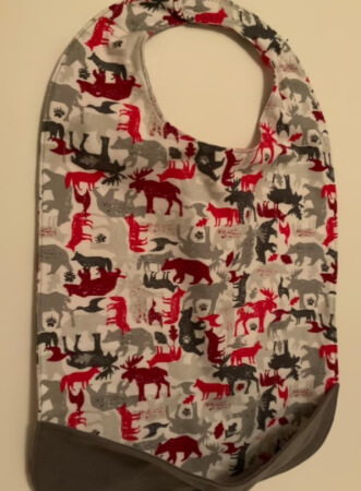 SEW an Adult or Child bib with optional crumb catcher pocket by DiNanny