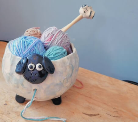 The Silly Sheep Yarn Bowl from HiTheretheShop