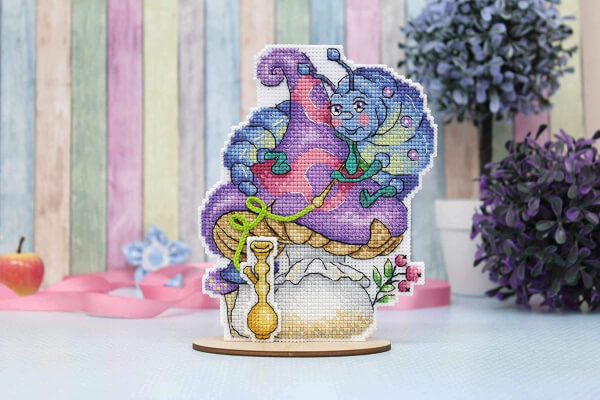 Wise Caterpillar - Counted Cross-Stitch Double-Sided kit on The Plastic Canvas