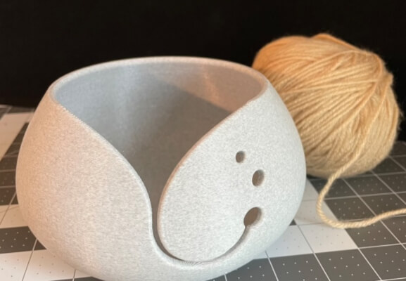 Yarn Bowl 3D Printed from Fabberforge