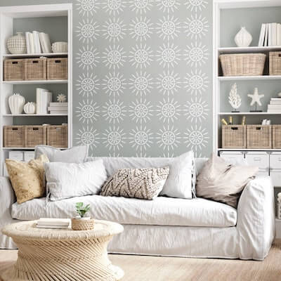 Accent Wall Stencil by Stencils Lab NY