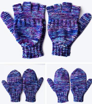 Athena Fingerless Gloves Knitting Pattern by The Blue Elephants