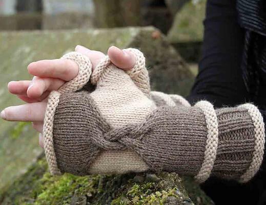 Chimera Fingerless Gloves Knitting Pattern by Julia Mueller