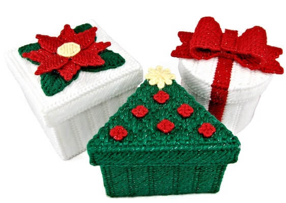 Christmas Boxes Plastic Canvas Pattern by Little Sapphire