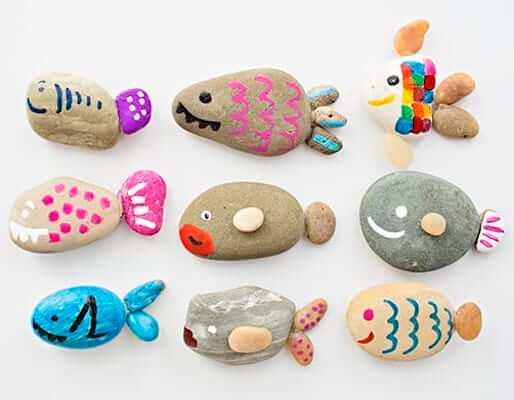 Cute Rock Fish Craft by Hello Wonderful