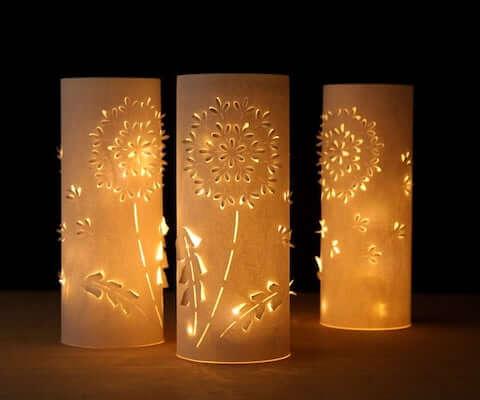 Dandelion Paper Lanterns by A Piece Of Rainbow