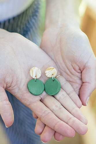 DIY Clay Bridal Party Earrings by Something Turquoise